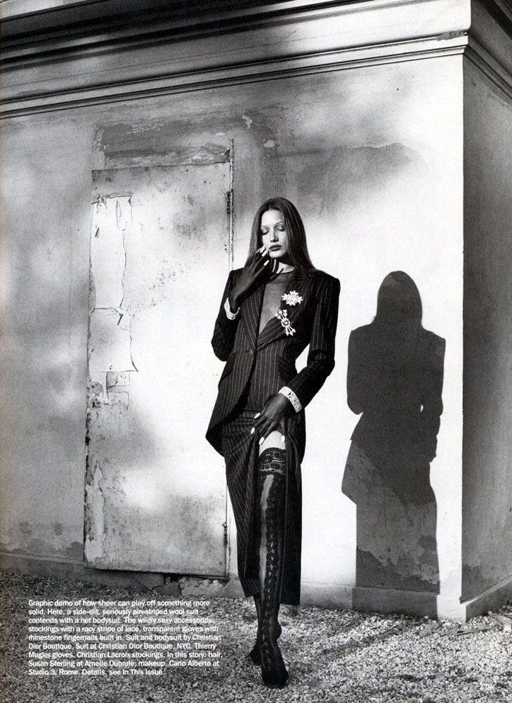 Carla Bruni for Vogue U.S 1992