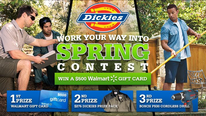 You should enter Work Your Way into Spring with Dickies Canada. There are great prizes and I think one of us could win!