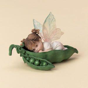 my little kitchen fairies | Girl In Peapod Fairie Figurine
