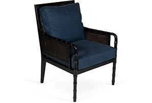 Blue Caned Chair