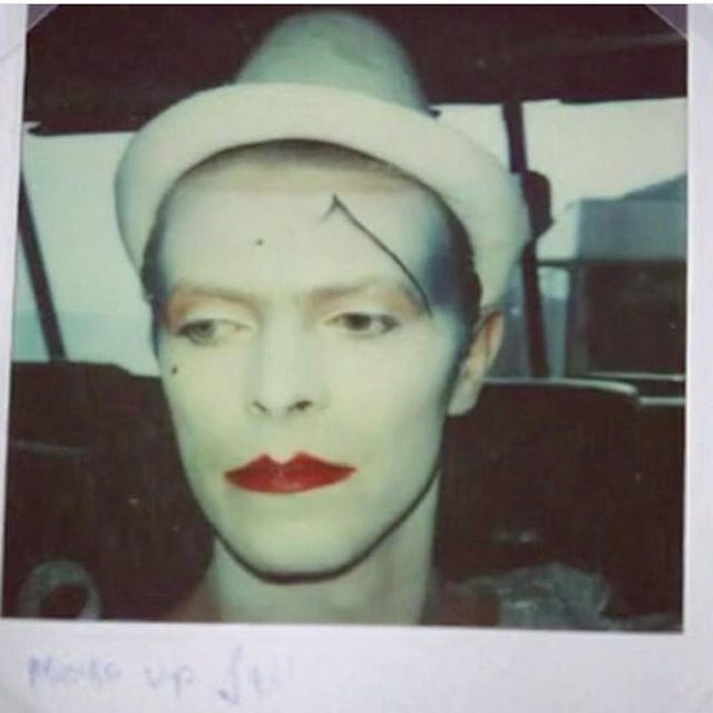 Polaroid from the filming of the music video of Ashes to Ashes ☄ #davidbowie…