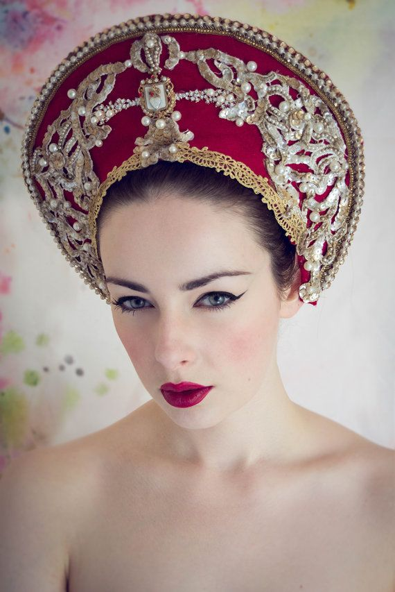 Red and Gold Royal Princess 'Kira' Pearl by livfreecreations