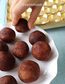 Zdrowo i na temat...: Marcepanowe kartofelki bez cukru i glutenu. Z fasolą Jaś i nasionami chia.