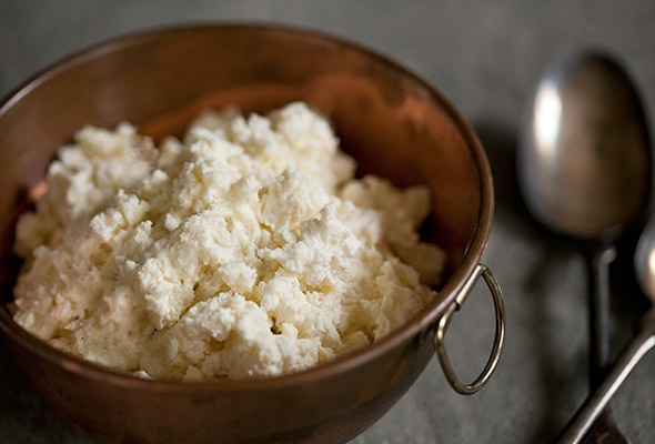 Just made homemade ricotta for the ricotta cheesecake that we'll have ...