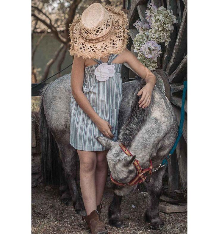vestido verano niña tirantes flor tela