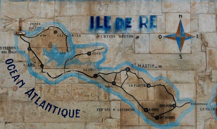 """Ile de Ré photography, Carte de l'Ile de Ré, Map of Ile de Ré, travel photography, French Atlantic Coast, 20 cm x 30cm, 8"""" x 12"""" by RePix on Etsy"""
