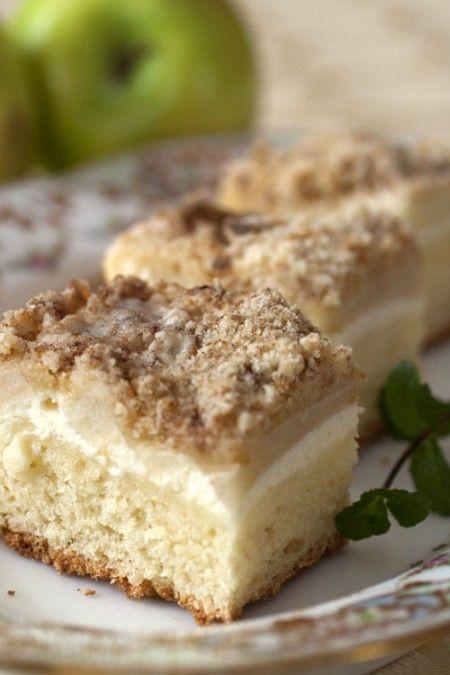 Apple Quark streusel cake