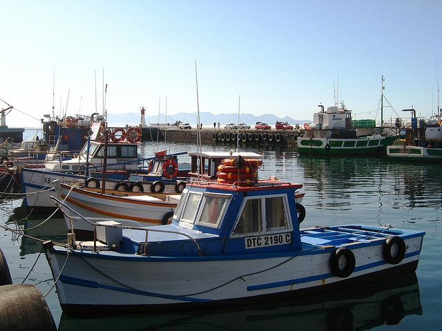 boats in kalk bay, cape town