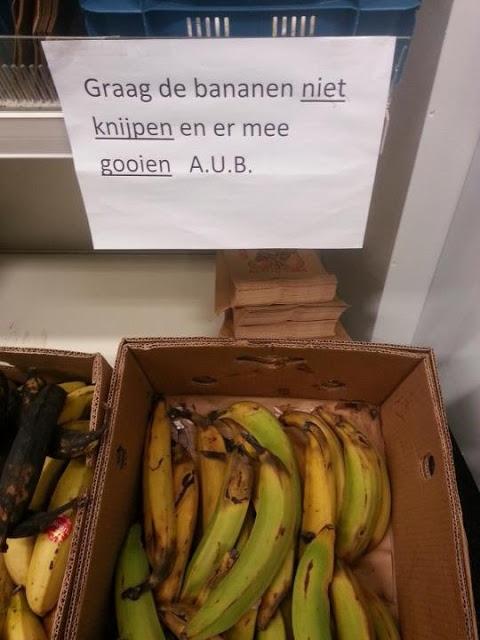 Ha, een bananengevecht ... altijd voor in!!!