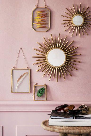 Miroir rond - Doré - Home All | H&M FR