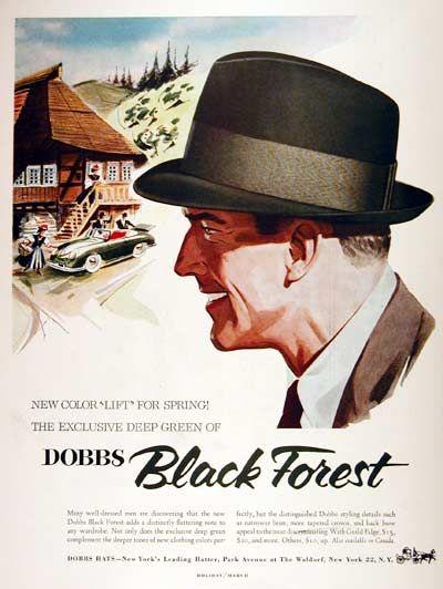 1955 Dobbs Hats Classic Vintage Print Ad