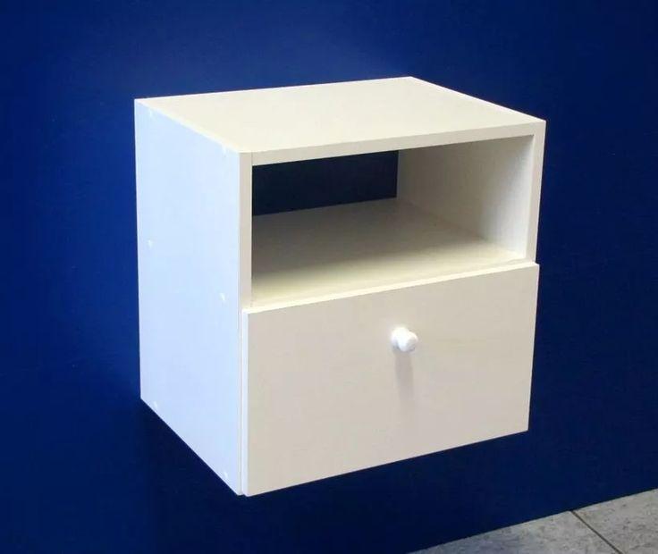 criado mudo suspenso com gaveta mdf branco nicho armario g6