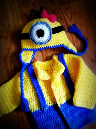 Minion Cardigan & Hat Set Gallery - Thing-a-ma-bobs