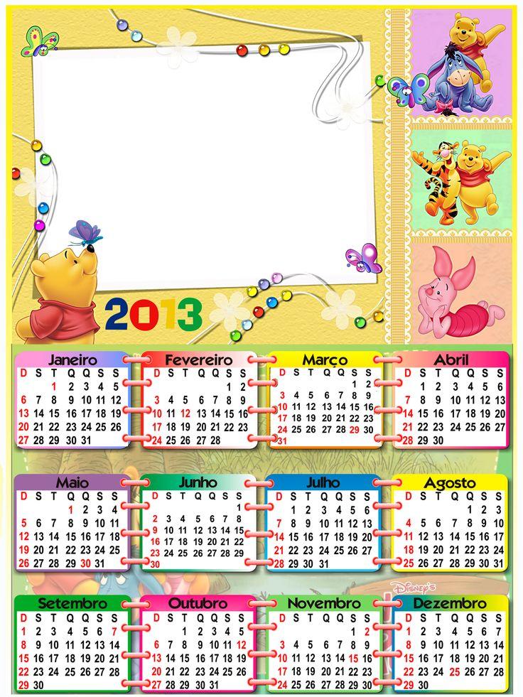 Baú Da Web Calendário Infantil 2013 Disney Para Imprimir