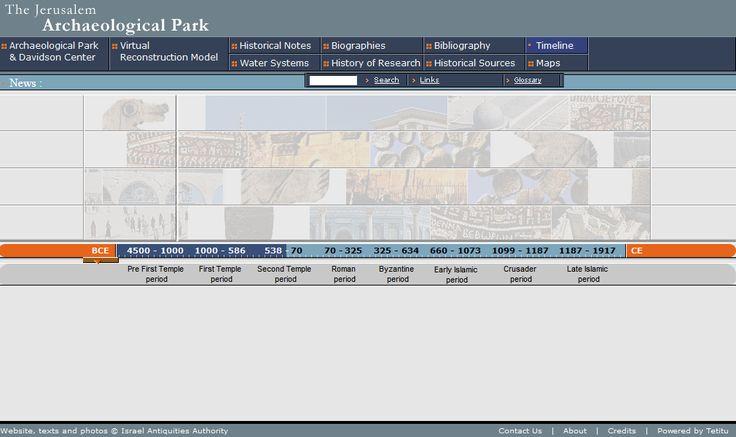 The Jerusalem Archaeological Park website in 2001