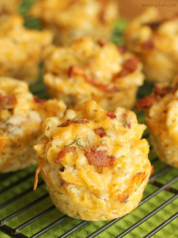 Ranch Bacon Mac and Cheese Cups - Perfect for tailgating, lunchboxes, or potlucks! #sponsored
