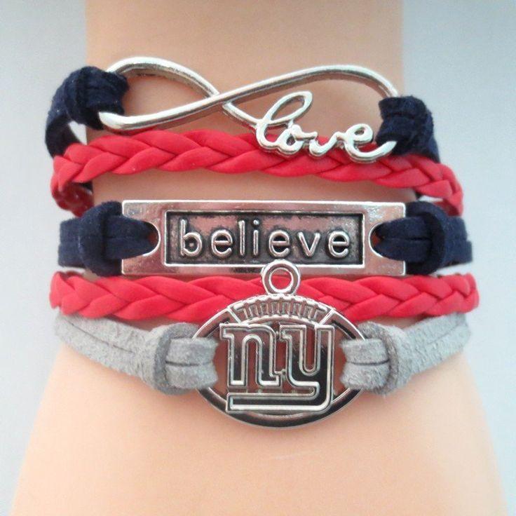 New York Giants Believe Bracelet - Free Shipping