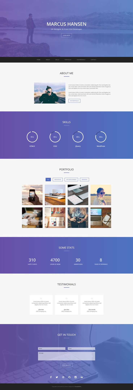 Geek - Free Personal #Portfolio #Bootstrap #Website #Template