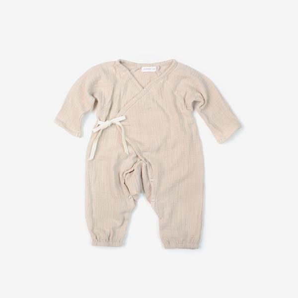 A Beautiful Baby Kimono Romper Made From Soft And Breathable Woven Cotton Double Gauze A Beautifully Textured Fabric With A Rompers Baby Kimono Baby Fashion