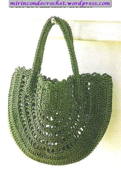 Mi Rincon de Crochet: Hook, Colors Verd, Rincon De, Crochet Bags, Color, Crochet Patterns, Mi Rincon, Otra Cartera, Crochet Charts
