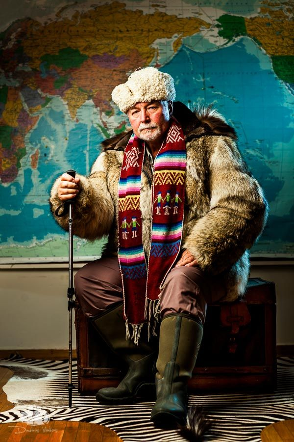 Photoshoot of Babis Bizas, the Most Traveled Man of the World!