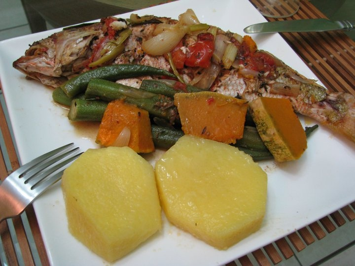 Steamed snapper with yellow yam okra an pumpkin one of my for Jamaica fish market