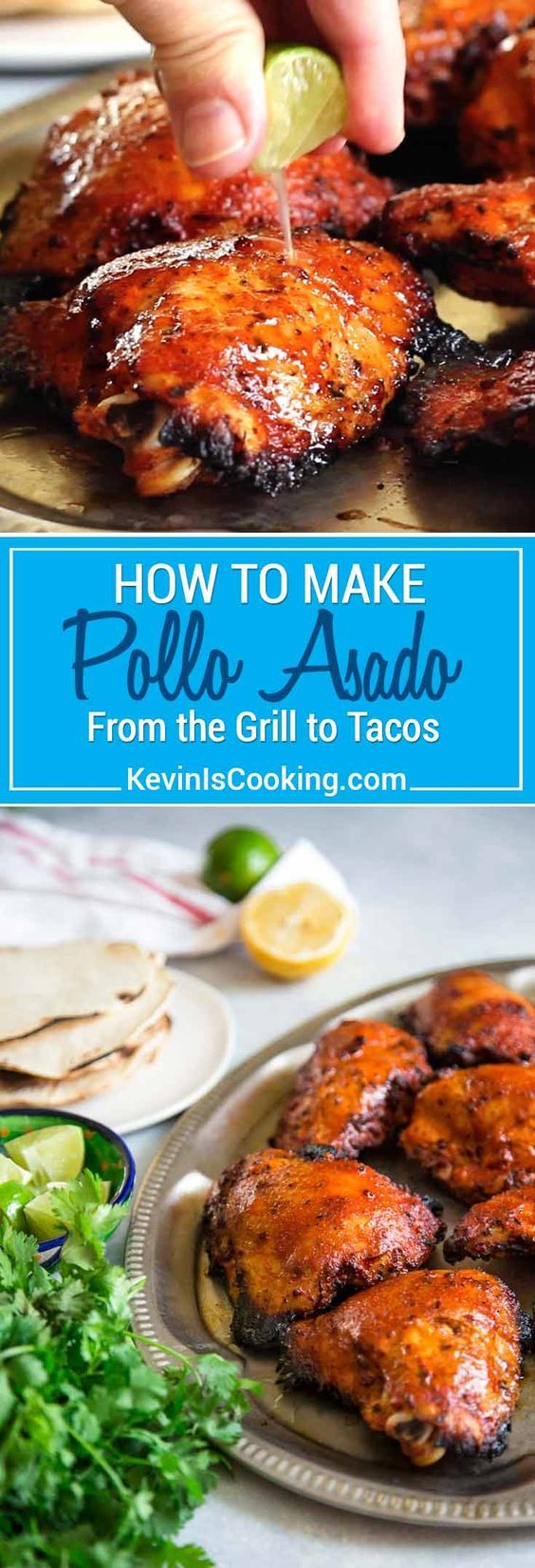 My take on How To Make Pollo Asado starts with marinating chicken in orange and lime juice, oregano, cumin, garlic and achiote paste overnight. Grill & eat! keviniscooking.com via @keviniscooking