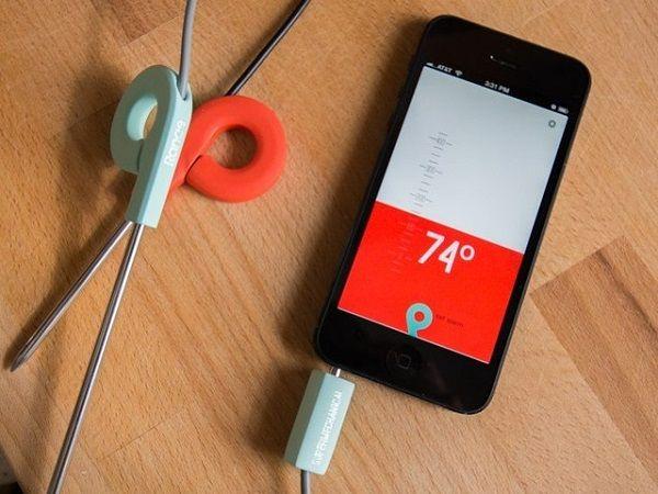 """iPhoneにつないで、料理の温度を正確に計測する""""スマート温度計""""「Range」"""