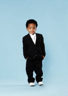 Imagine your little man dressed up in this suave looking 2-button black suit from Eurosuit (designer: John Peter). Click to view more or Book a Fitting