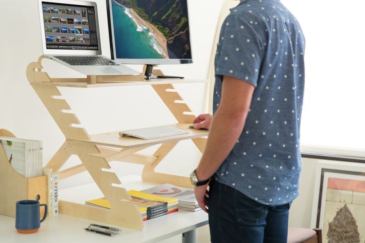 The most popular, affordable standing desk. Adjusts to your height. Stand up more at work without the commitment.