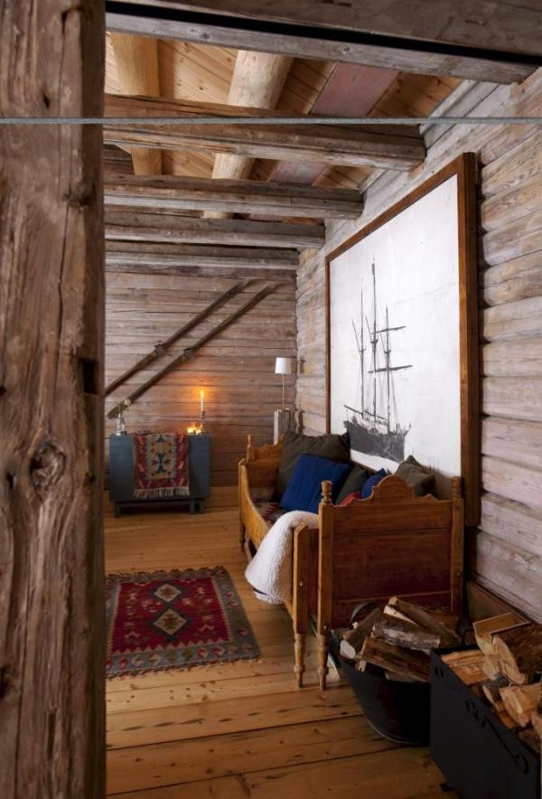 Gammel arbeiderbolig ble til fin hytte (ernashus)
