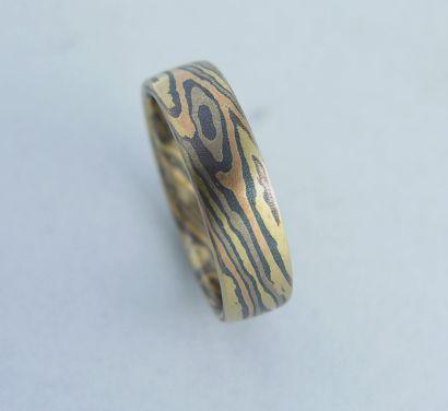 Obrączki Mokume  /  złote obrączki
