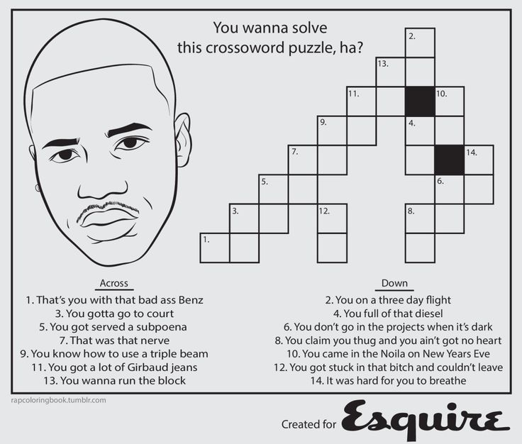 Bun B's Jumbo Coloring And Rap Activity Tumblr | Bun and I interviewed with (mothereffin') Esquire...