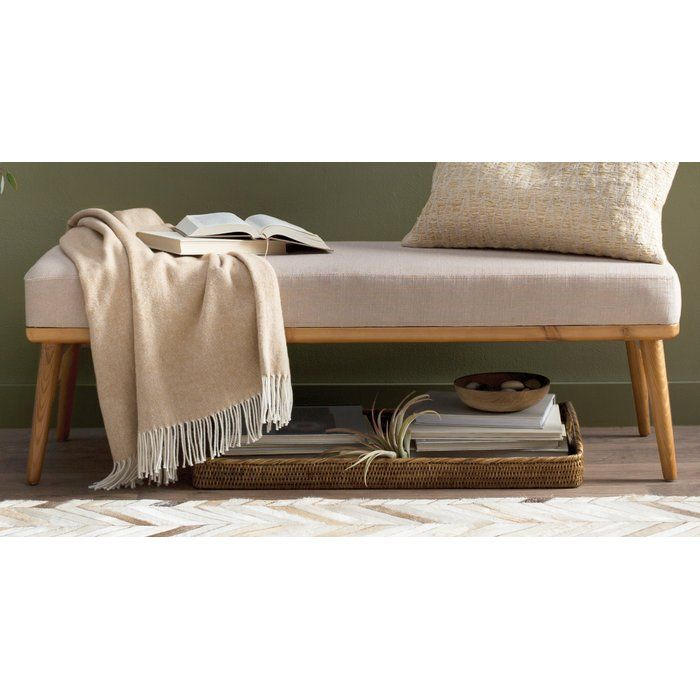 Trinh Wood Bench Upholstered Bench Bench Contemporary Bench #upholstered #benches #for #living #room