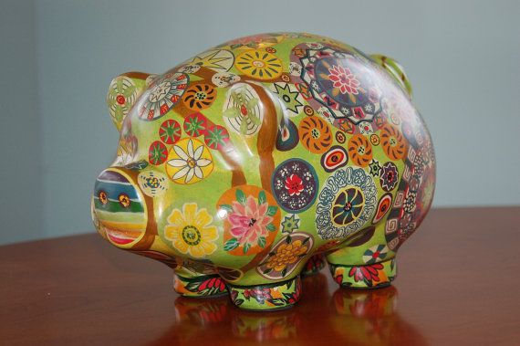 60 best piggy banks images on pinterest pigs piggy for How to paint a ceramic piggy bank