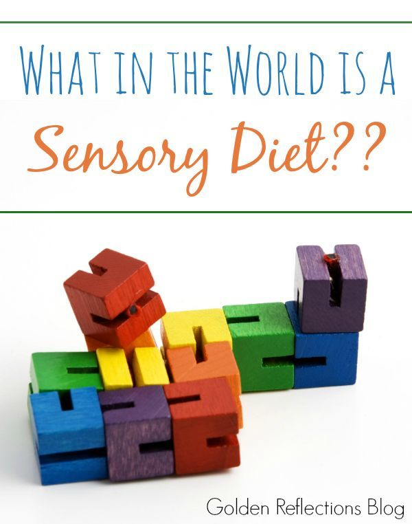 """Have you heard the term """"Sensory Diet"""" before? What is a sensory diet and how does it work? www.GoldenReflectionsBlog.com"""