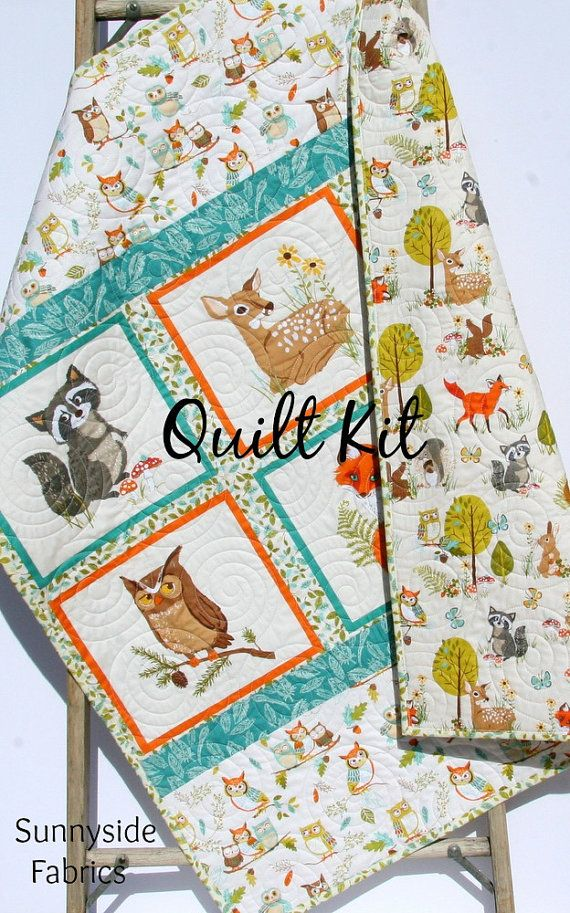 Woodland Quilt Kit Diy Project Easy Beginner Striped