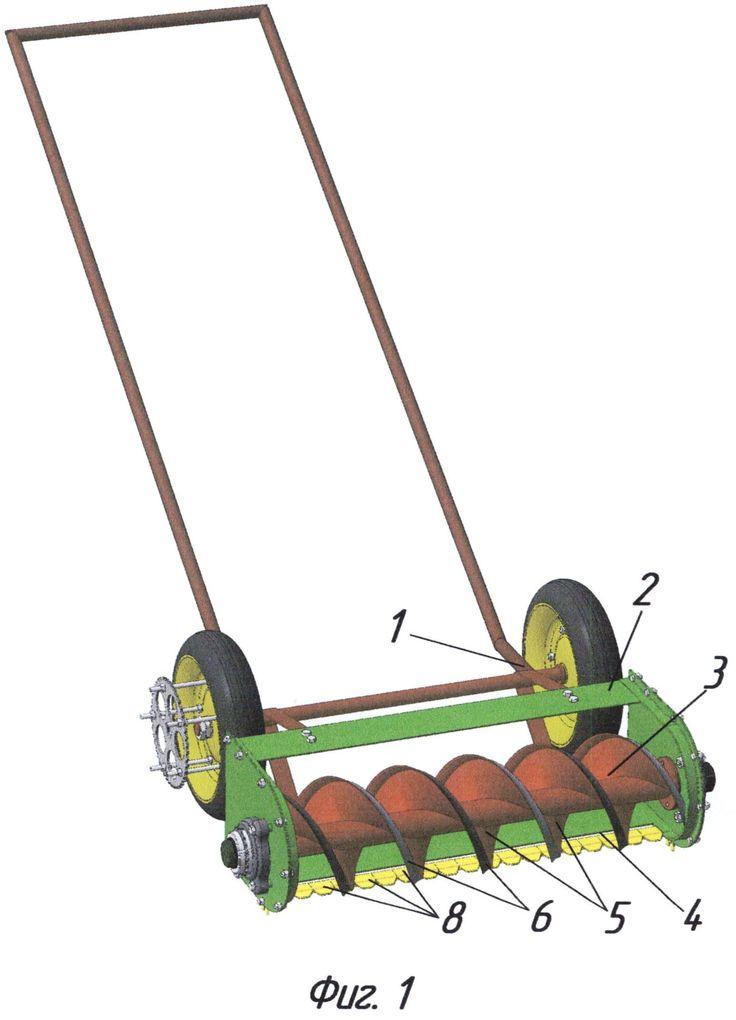 газонокосилка механическая, патент № 2529175