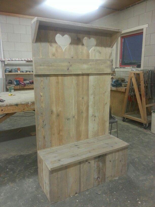 Kapstok meubel steigerhout