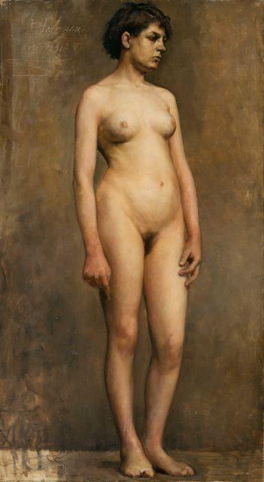 The Athenaeum - Nude Female Model (Pekka Halonen - )