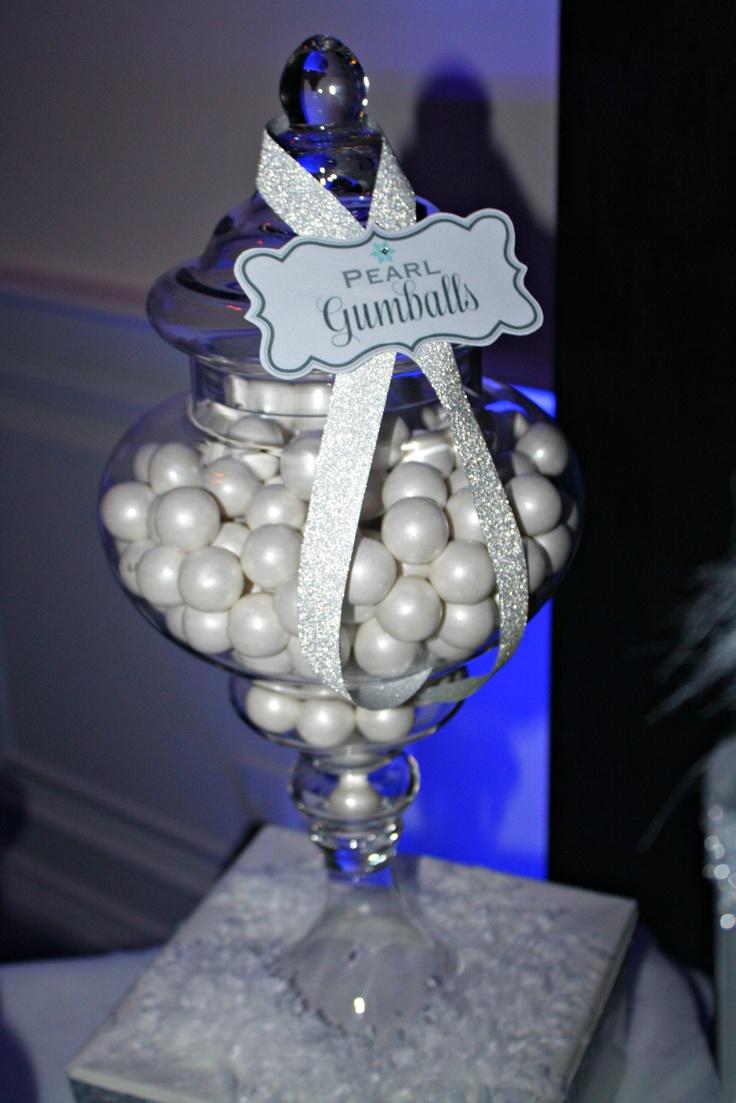 Candy buffet ideas for sweet sixteen - Winter Wonderland Sweet 16 Dessert Table Vanessa Grant Events