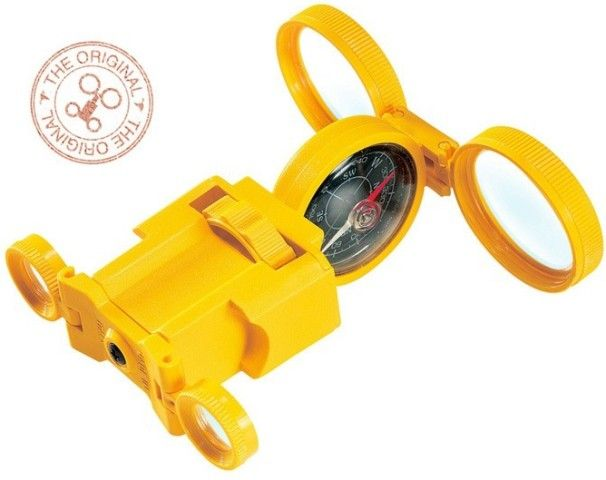 The Italian-made Optic Wonder is a multifunctional didactic instrument from Navir that folds out into a pair of binoculars, magnifying glass, compass, magnifying mirror and observation plane, mirror for signals and a stereoscopic viewer — wow, you'll never be lost in the bush! #Navir #outdoortoys #Christmas2013
