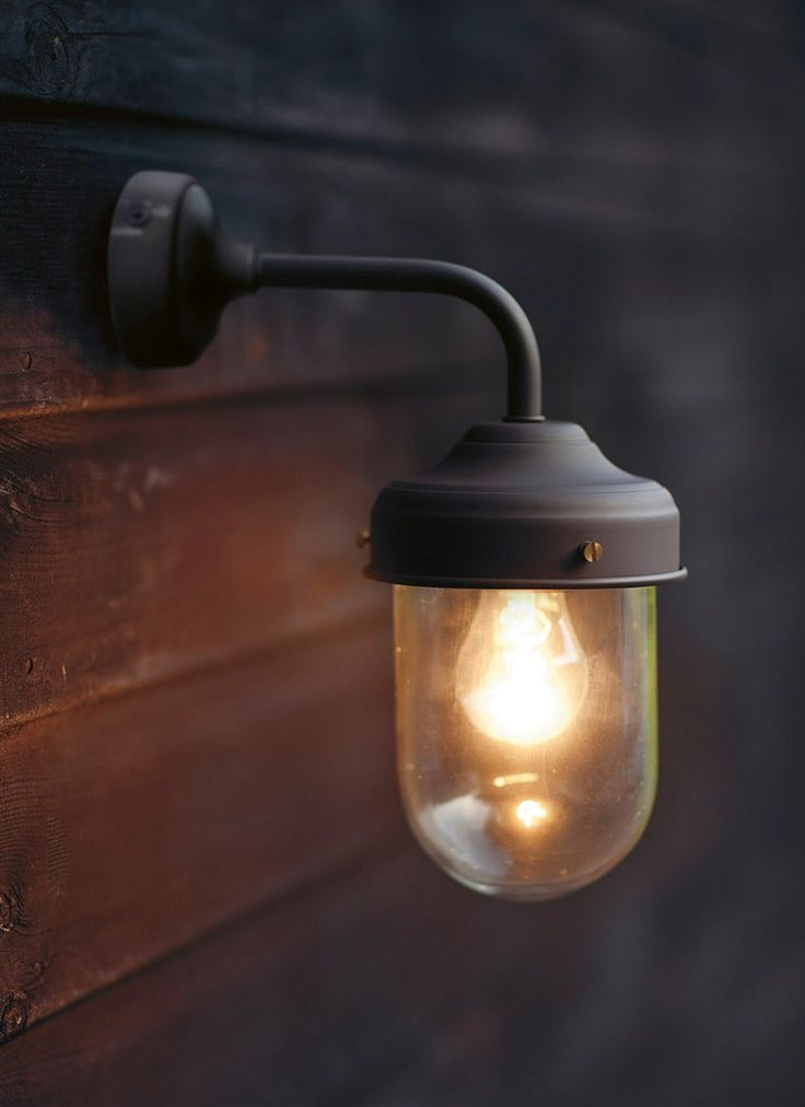 Coffee Bean Barn Lamp is a stylish, durable outdoor garden wall light, ideal for a porch, garage or shed.