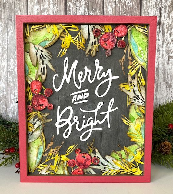 Merry and Bright Christmas Frame Ideas in 2020 Merry and