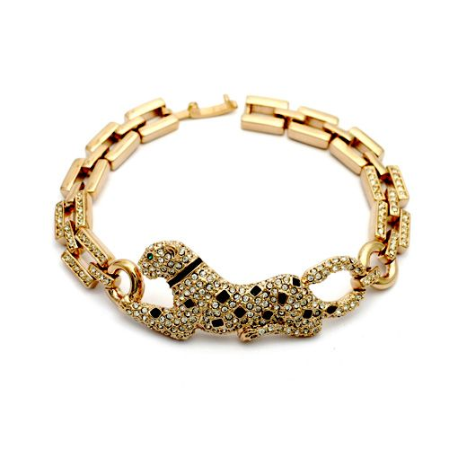 ==> [Free Shipping] Buy Best MOONROCY Free Shipping Rose Gold Color Crystal Animal sexy leopard Bracelet Zirconia Jewelry Wholesale for Women Gift Online with LOWEST Price | 1985221045