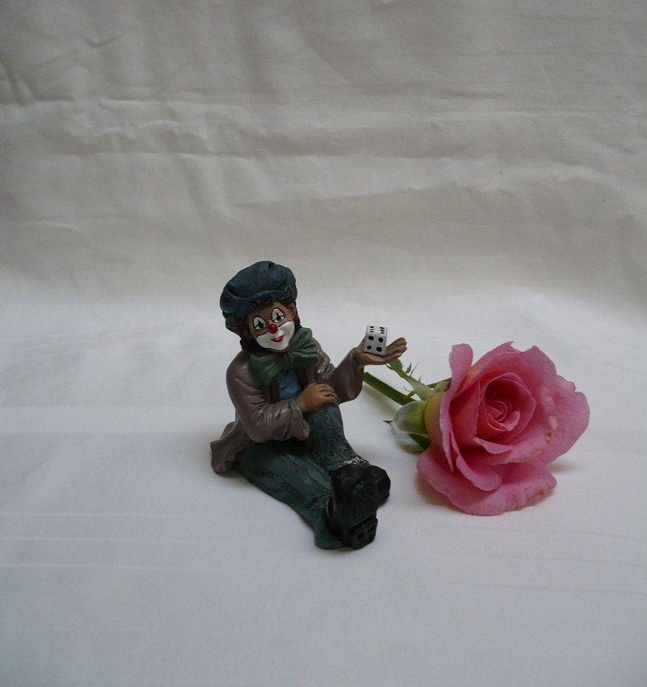 Gilde handwerk clown with die made in Germany by ConcealedTreasures on Etsy