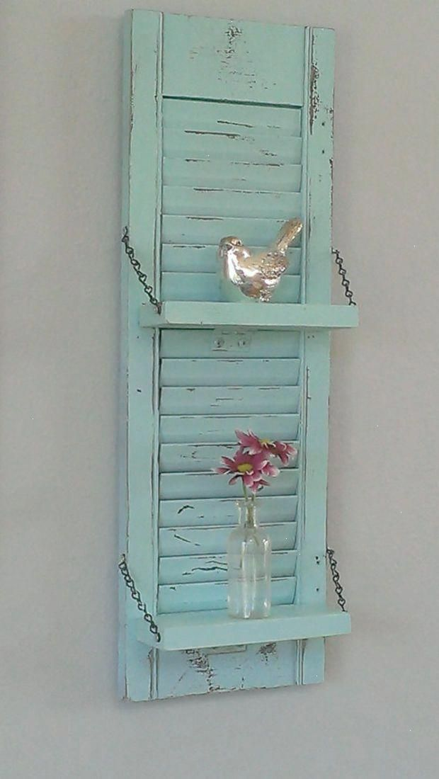 Look What I Got Shabby Chic Furniture For Sale Xoxo Shabbychickitchen Shabby Chic Shelves Shutter Wall Decor Country Wall Decor