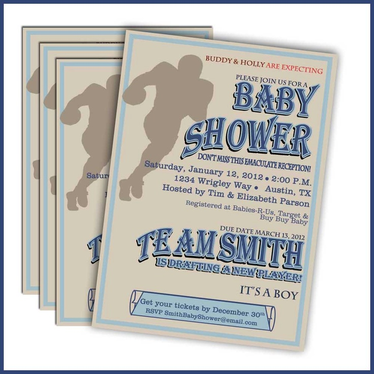 football baby shower invitations 244 sports baby shower baby boy