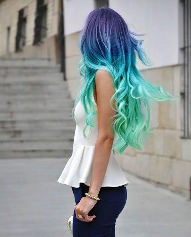 Rita Ora's Dip Dye Hair + 9 More Rad Rainbow Hairstyles via Brit + Co.