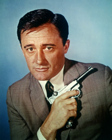 Robert Vaughn as Napolian Solo in The Man from Uncle, co-starred in The Magnificent Seven.
